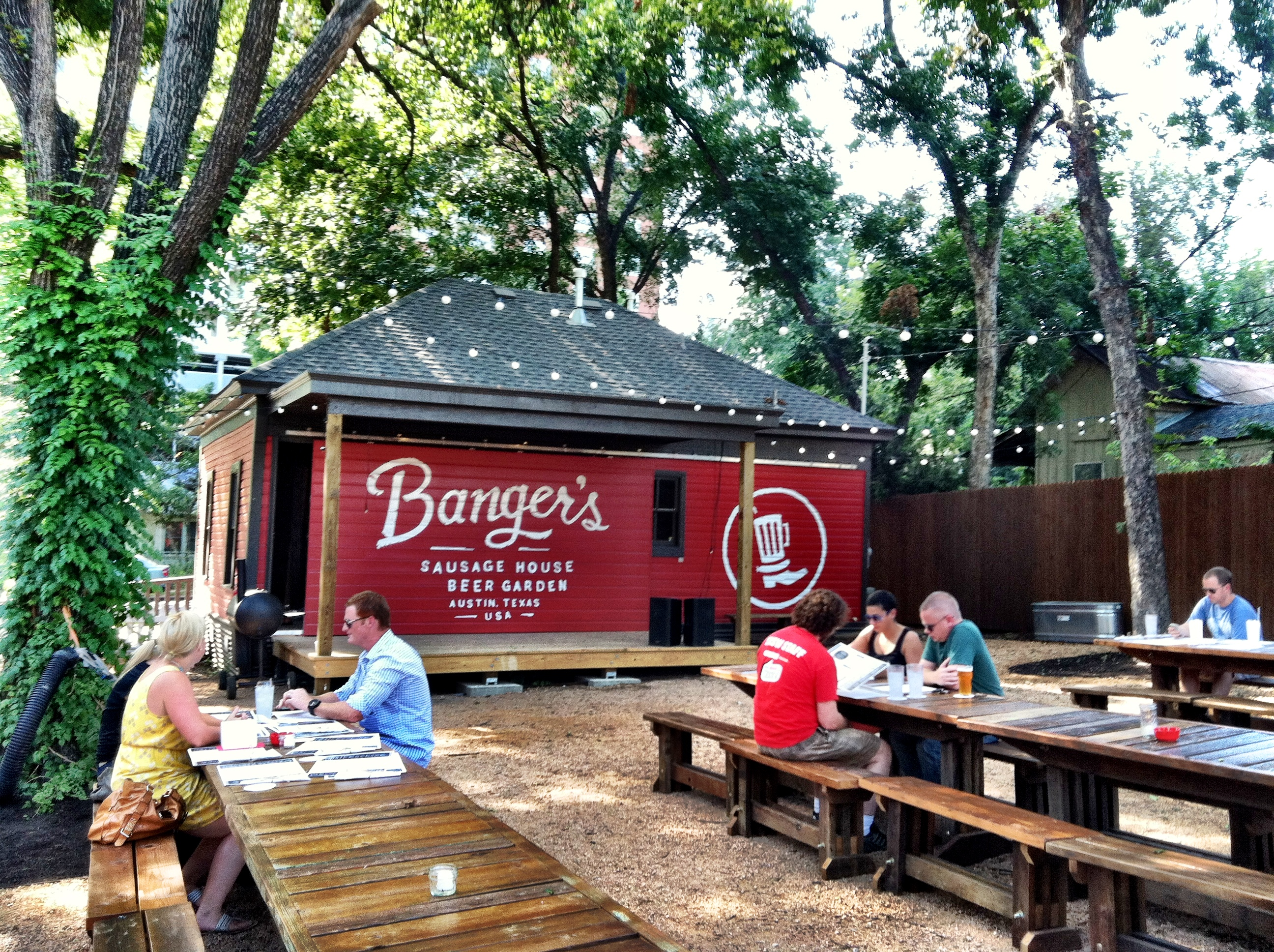 outside garage wall ideas - Genius Tap Banger's Sausage House & Beer Garden
