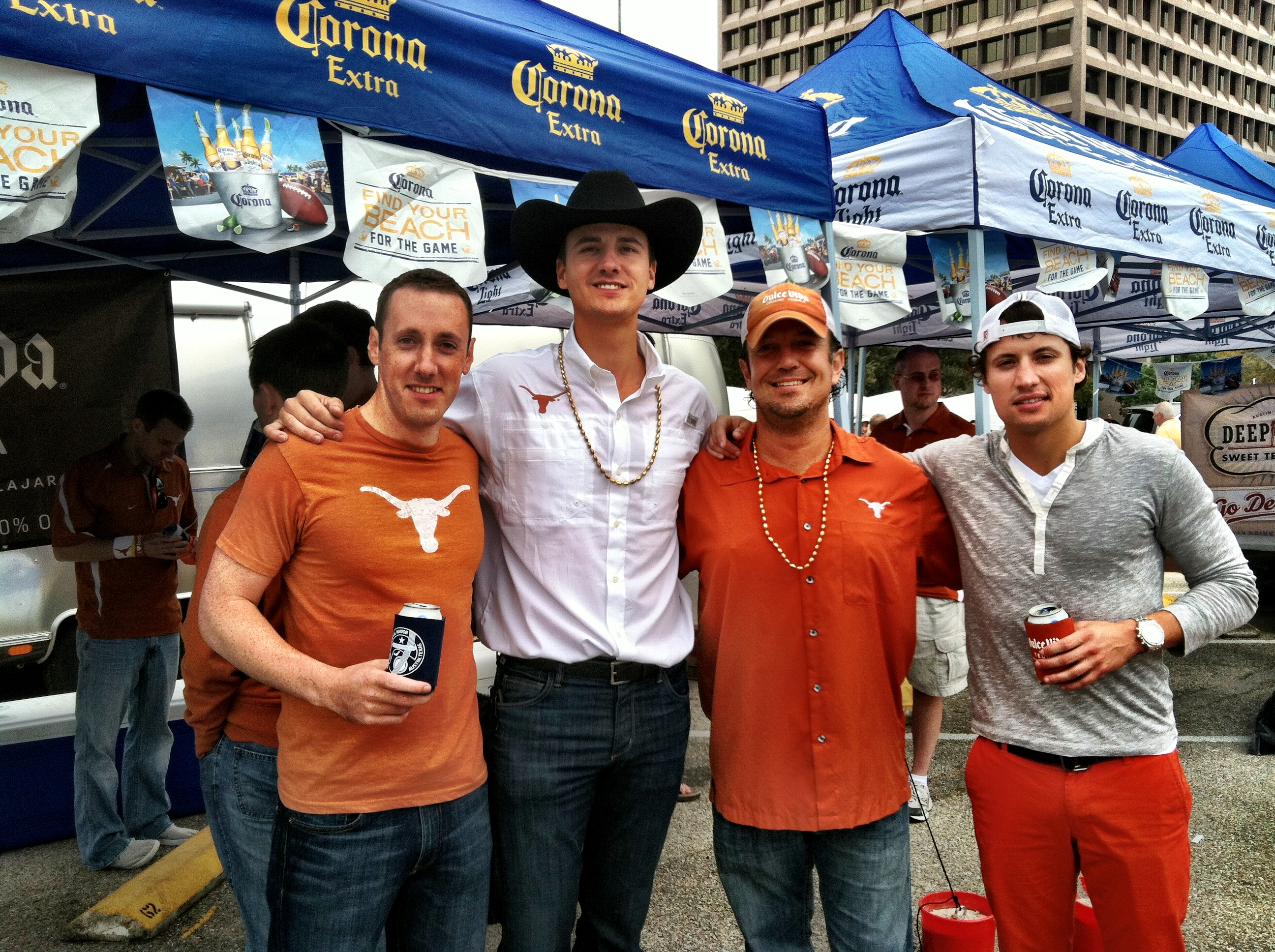 College football fans tailgate