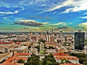 Downtown Austin From High Above UT Tower