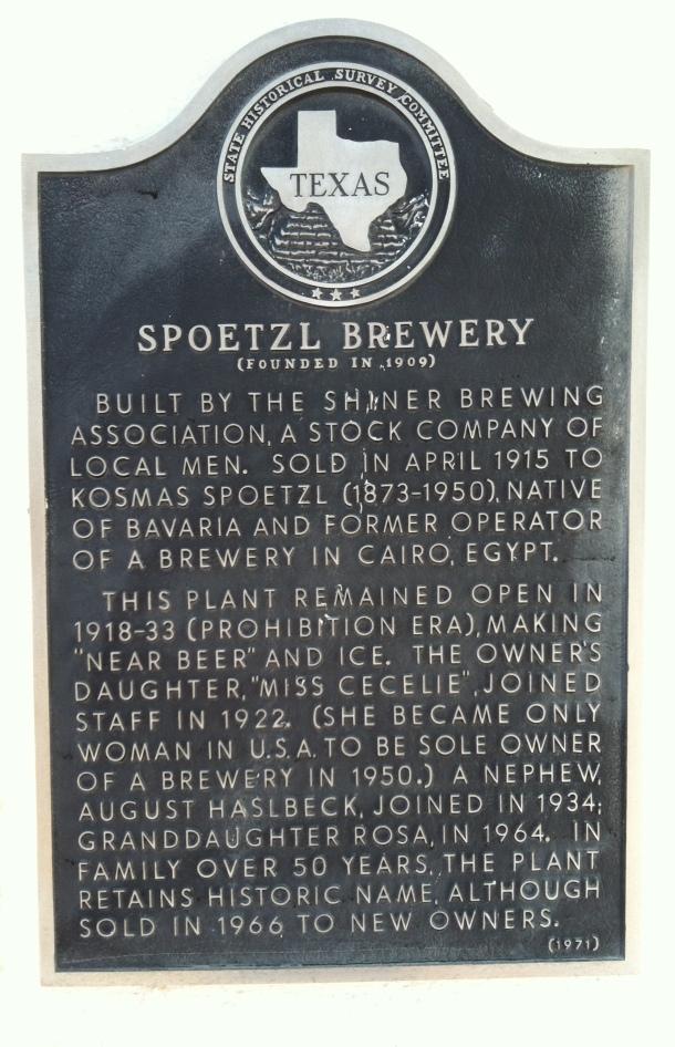 Spoetzl Brewery History