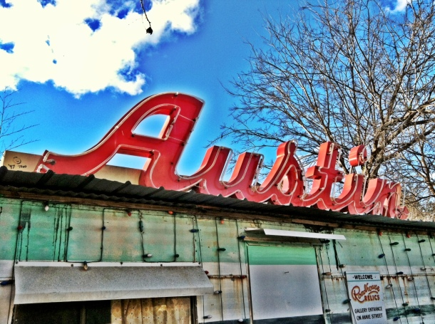 Austin Sign - Roadhouse Relics