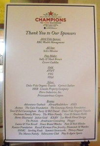 Champions To CureDuchenne 2012 Sponsors