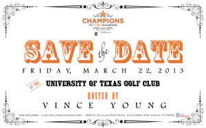 Champions To CureDuchenne - Save The Date 2013